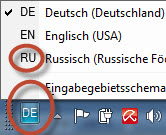 Russische Tastatur unter Windows Sprache per Klick umstellen
